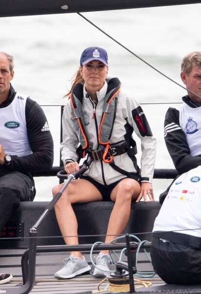 Kate Middleton était à la régate caritative King's Cup ce jeudi 8 août