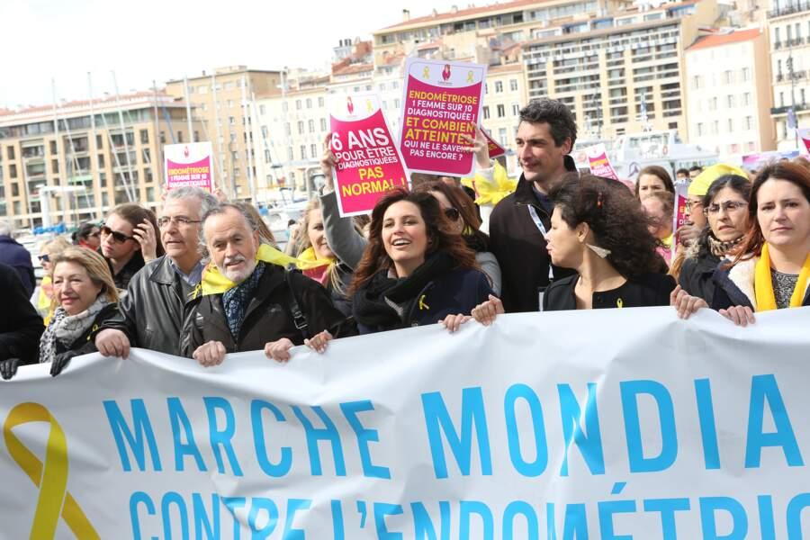 Laetitia Milot à Marseille lors de la marche mondiale contre l'endometriose