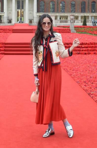 Demi Moore à Londres en Mai 2016