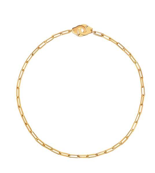 Collier menottes en or jaune, 3200 €, Dinh Van.