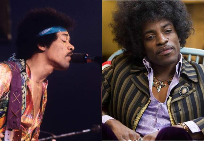 Le rôle de Jimi Hendrix est tenu par André Benjamin