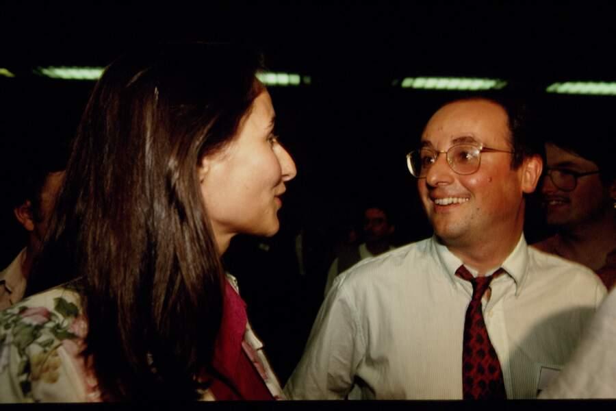 Ségolène Royal et François Hollande lors des états généraux du PS à Lyon, le 4 Juillet 1993