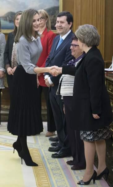 Letizia d'Espagne dans son palais à Madrid
