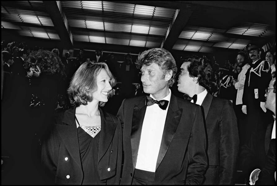 Nathalie Baye et Johnny Hallyday au Festival de Cannes en 1984