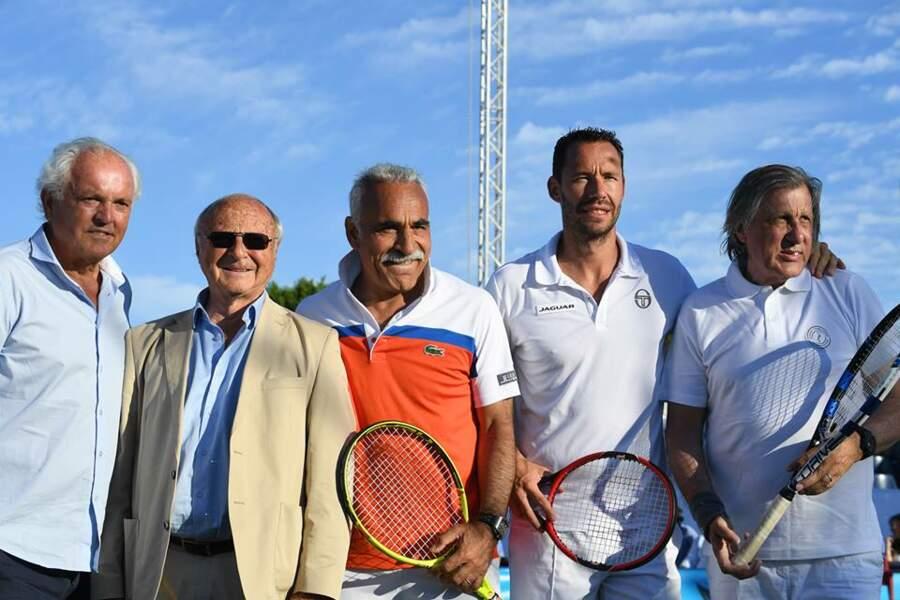 Christian Bîmes, Jean-Pierre Tuveri, Mansour Bahrami, Michael Llodra et Ilie Nastase