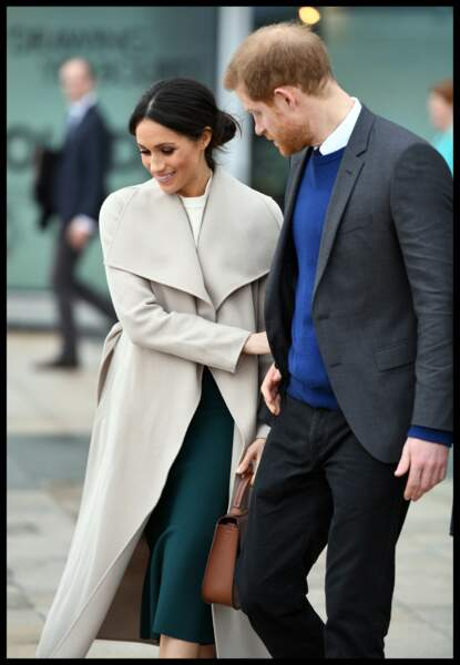 Le prince Harry et Meghan Markle visitent la Titanic FX Company à Belfast le 23 mars 2018
