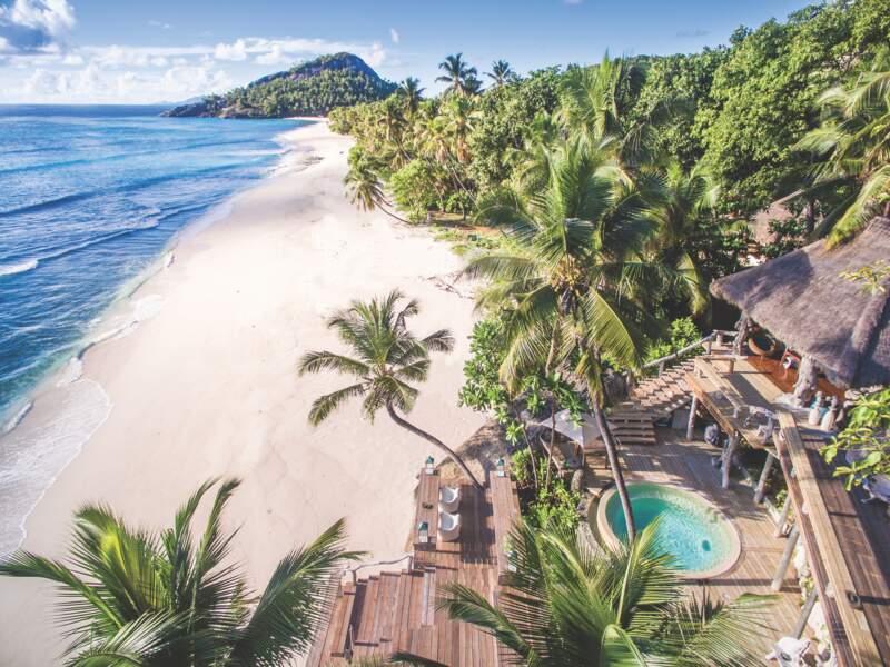 Vue aérienne de la villa 11, la plus chère de North Island, où Kate et William se sont offert des vacances de luxe