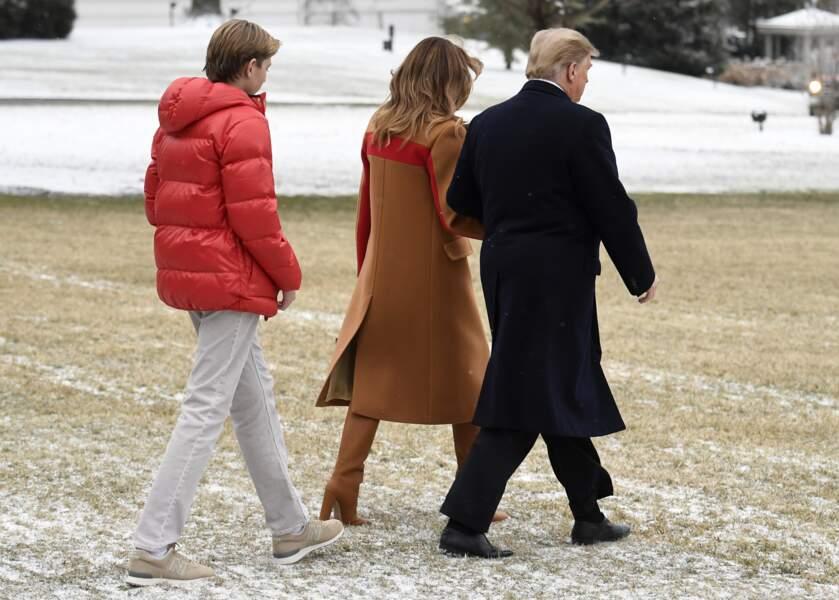 Melania Trump élève son fils sans nounou, depuis qu'il est petit