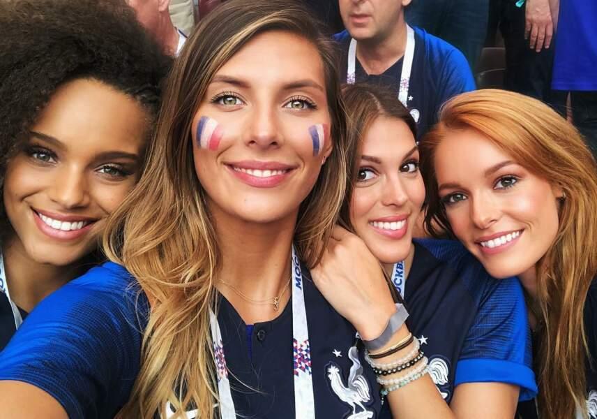 Alicia Aylies, Camille Cerf, Iris Mittenaere et Maëva Coucke sont à Moscou pour soutenir les Bleus