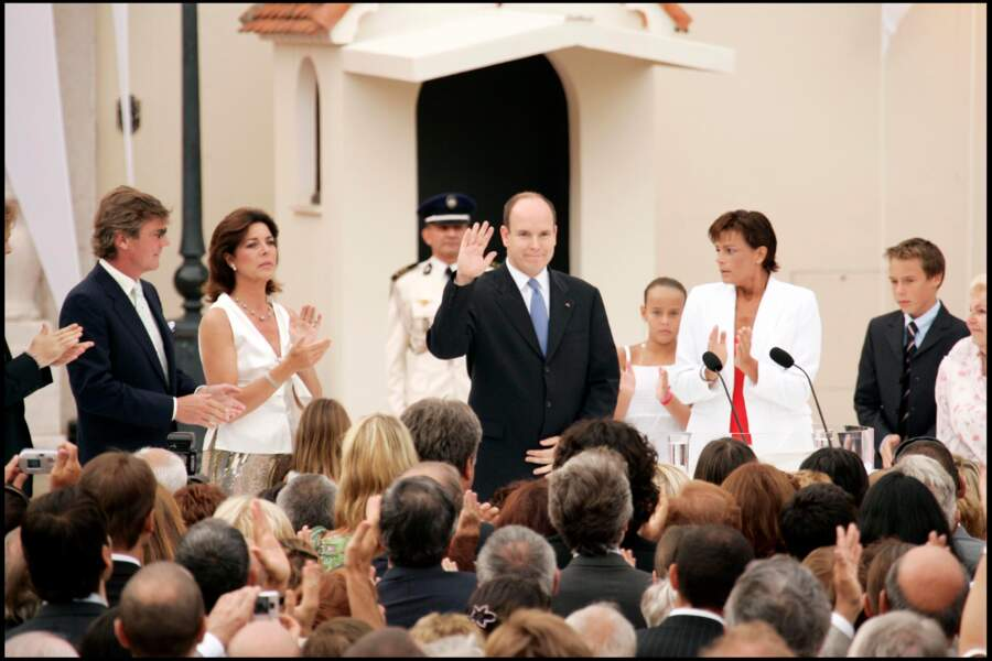 Caroline lors de la cérémonie de l'avènement de SAS le prince Albert II de Monaco, en 2005