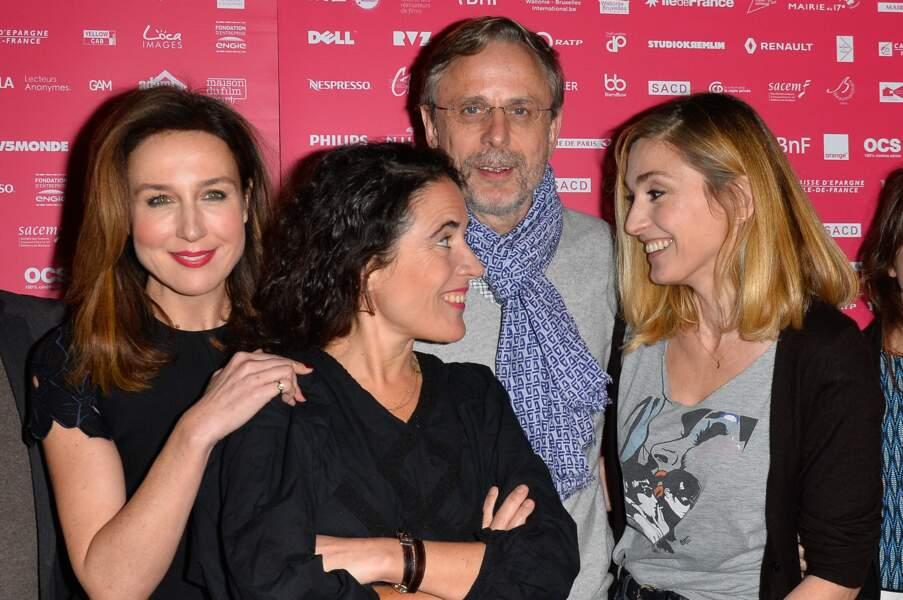 Julie Gayet  avec Elsa Zylberstein, Mazarine Pingeot et Christophe Rossignon