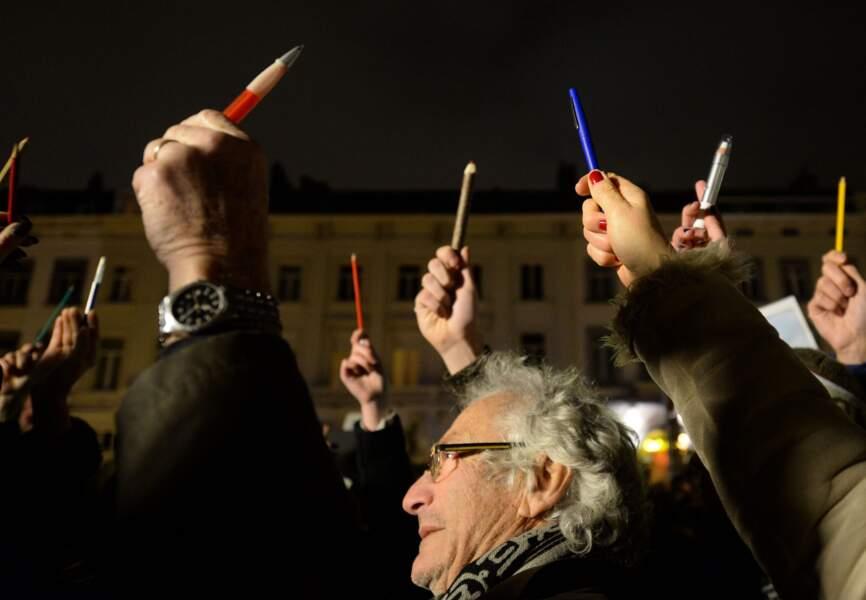Soutien à Charlie Hebdo à Bruxelles