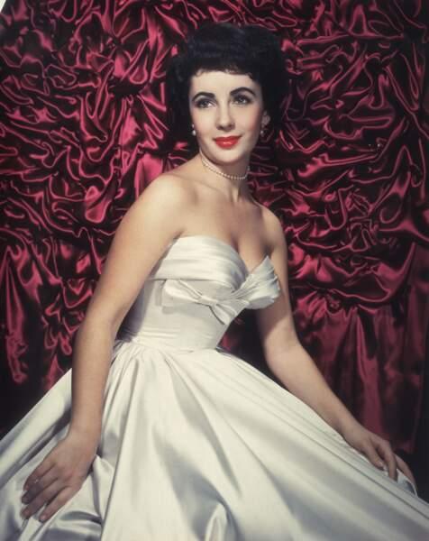 Portrait d'Elizabeth Taylor dans les années 1950
