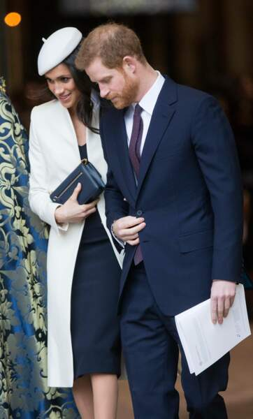 Harry et Meghan lors de la cérémonie du Commonwealth en l'abbaye Westminster à Londres, le 12 mars 2018
