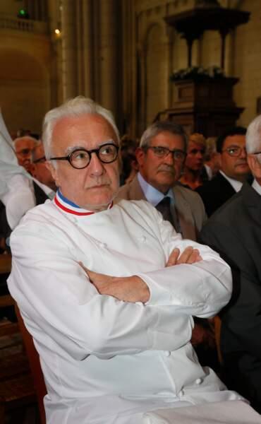 Alain Ducasse aux obsèques de Joël Robuchon à la cathédrale Saint-Pierre de Poitiers le 17 août