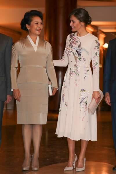 Letizia d'Espagne et Peng Liyuan la première dame chinoise : deux styles d'élégance