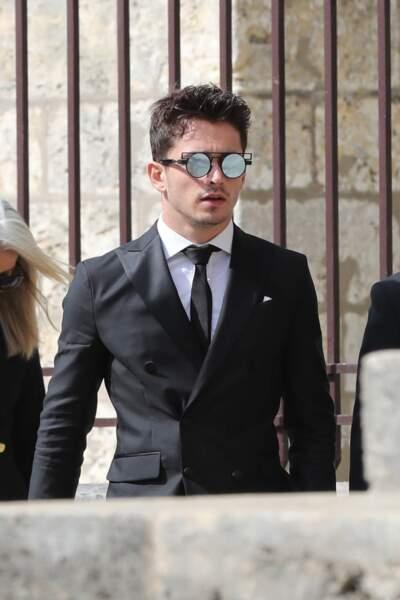 Charles Leclerc, pilote de F1, aux obsèques d'Anthoine Hubert à Chartres, le 10 septembre 2019