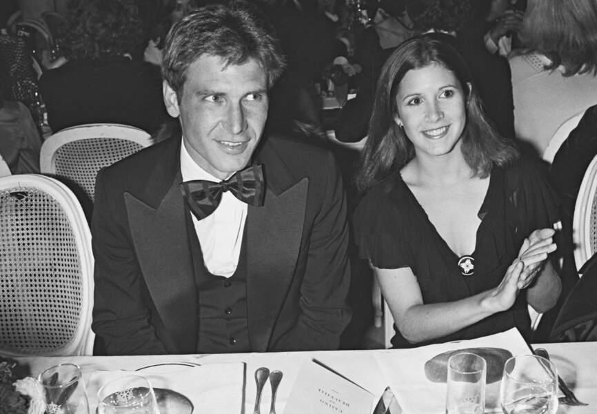 Carrie Fisher et Harrison Ford au festival de Deauville en 1982