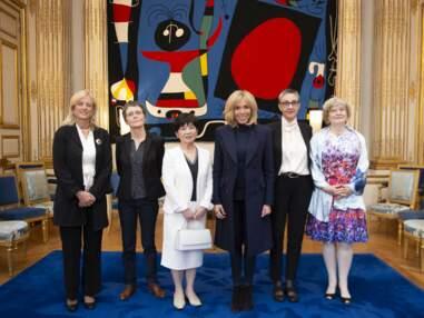 Brigitte Macron, rock en jean slim pour un rendez-vous à l'Elysée
