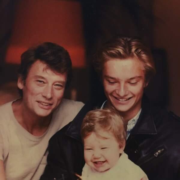 Laura Smet enfant, avec Johnny et David Hallyday : une photo rare, dévoilée sur Instagram en juin 2017