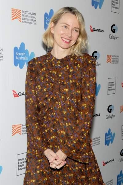 """Naomi Watts à la première du film """"Breath"""" : belle au naturel et avec ses rides"""