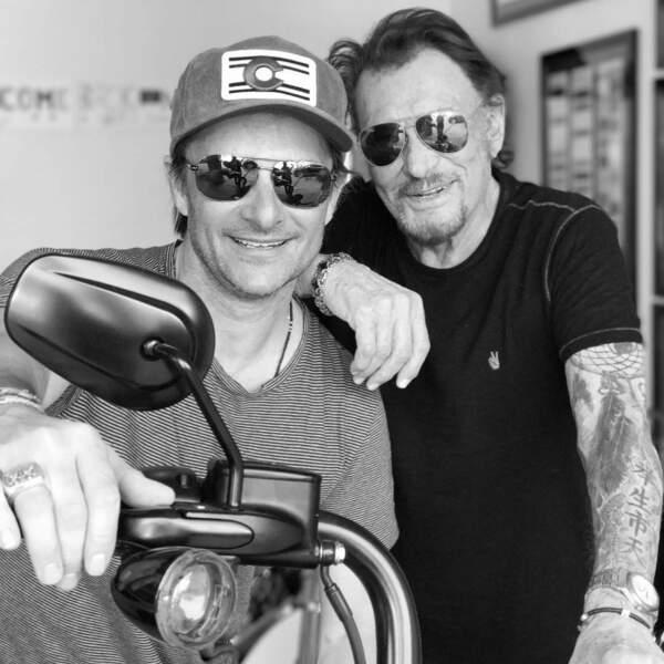 David et Johnny Hallyday à Los Angeles en avril 2017
