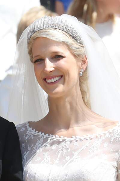 la demi-queue de Lady Gabriella Windsor