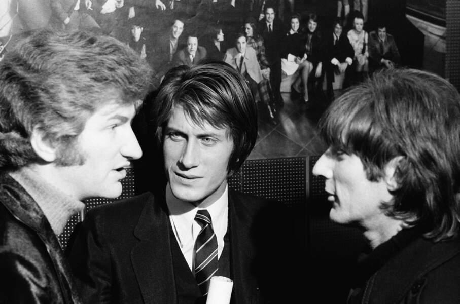 Eddy Mitchell, Jacques Dutronc et Hugues Aufray en 1968