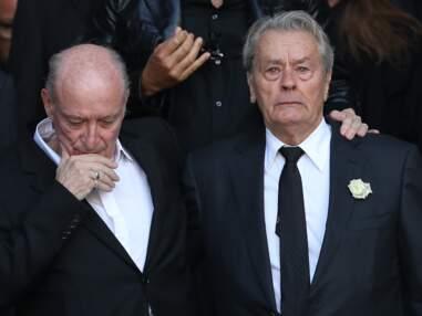 PHOTOS - Alain Delon et Pascal Desprez le mari de Mireille Darc unis dans la douleur