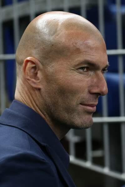 Zinédine Zidane lors d'un match amical France - Brésil au Stade de France le 26 mars 2015