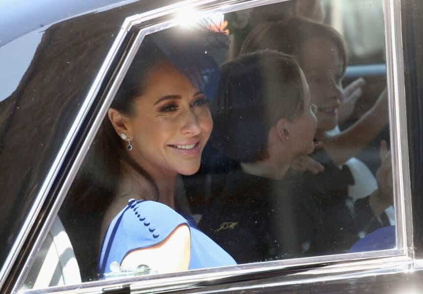 Jessica Mulroney arrive au mariage de Meghan Markle et du prince Harry à Windsor, le 19 mai 2018