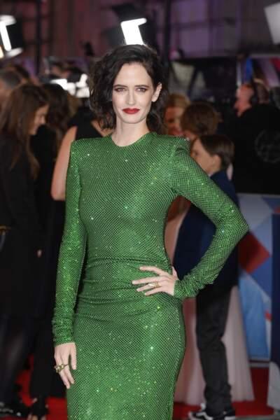 Eva Green, la fille de Marlène Jobert, sublime dans cette robe verte qui fait ressortir ses yeux clairs