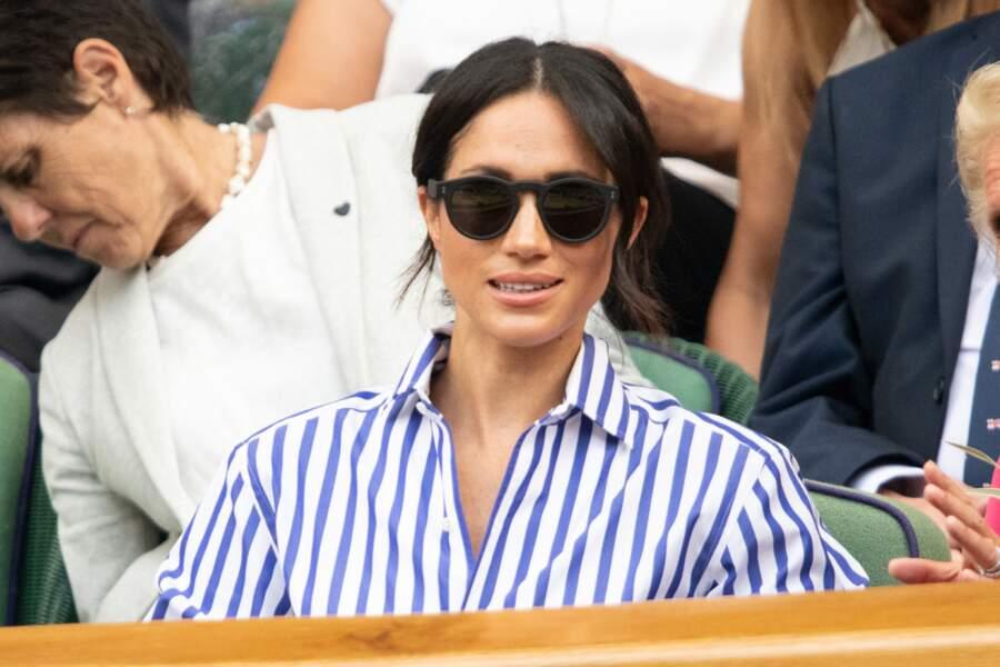 Meghan Markle à Wimbledon pour la finale des dames.
