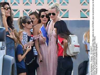 Laeticia Hallyday accompagne ses filles Jade et Joy Hallyday