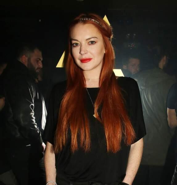 Sublime roux et longueurs brillantes pour Lindsay Lohan