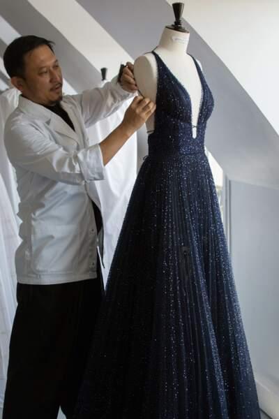 700 heures de travail ont été nécessaires à la réalisation de la robe Dior de Chiara Ferragni pour son tapis rouge.