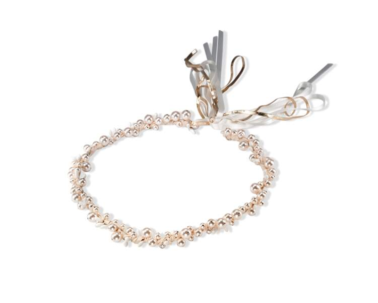 Couronne de perles, Maison Guillemette en exclusivité au Printemps, 260 €