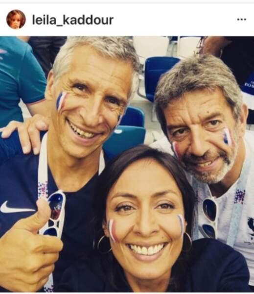 Nagui, Leïla Kaddour et Michel Cymes