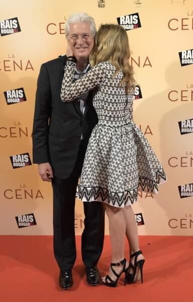 Richard Gere et Alejandra Silva, très amoureux