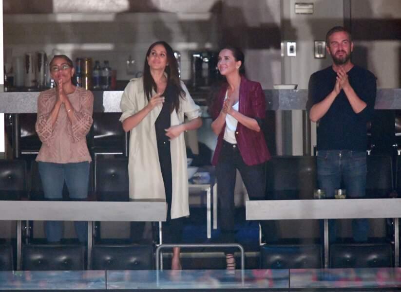 Meghan Markle avec sa mère Doria, Jessica Mulroney et Markus Anderson aux Invictus Games le 30 septembre 2017