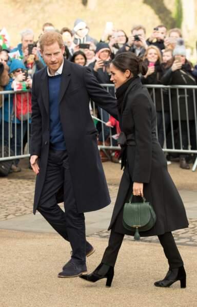 Le prince Harry et Meghan Markle visitent le château de Cardiff le 18 janvier 2018