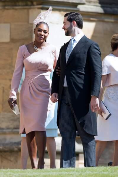 Serena Williams et son mari Alexis Ohanian au mariage de Meghan Markle et du Prince Harry le 19 mai 2018 à Windsor