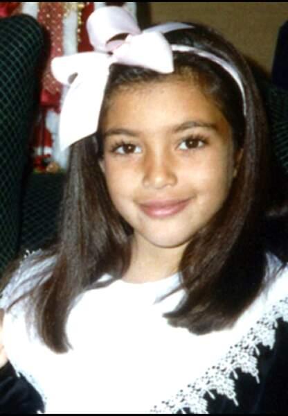 Kim Kardashian a 10 ans, une jolie jeune fille qui ne s'est pas encore le destin qui l'attend.