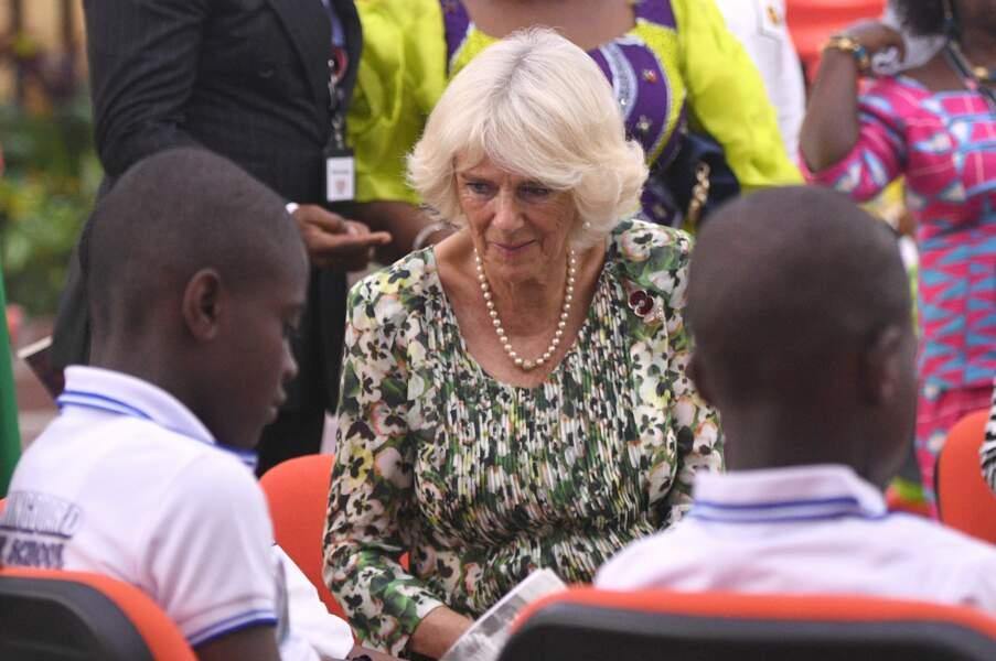 Camilla et ses perles, à Kumasi, au Ghana, le 4 novembre 2018.