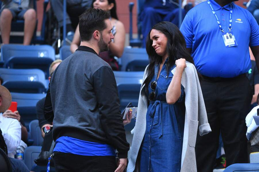Lors du match, Meghan Markle a pu saluer Alexis Ohanian, le mari de Serena Williams