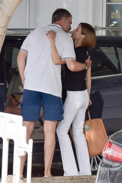 """Le roi Felipe et Letizia d'Espagne, très complices lors de la """"Copa del Rey"""" à Majorque en 2015"""