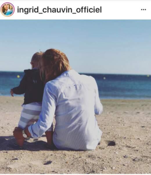 Ingrid Chauvin et son petit Tom