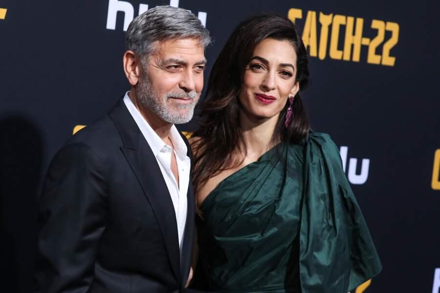 Amal Clooney était resplendissante aux bras de son mari George