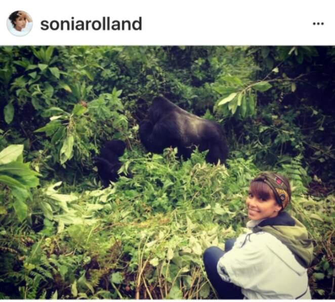 Sonia Rolland au Rwanda