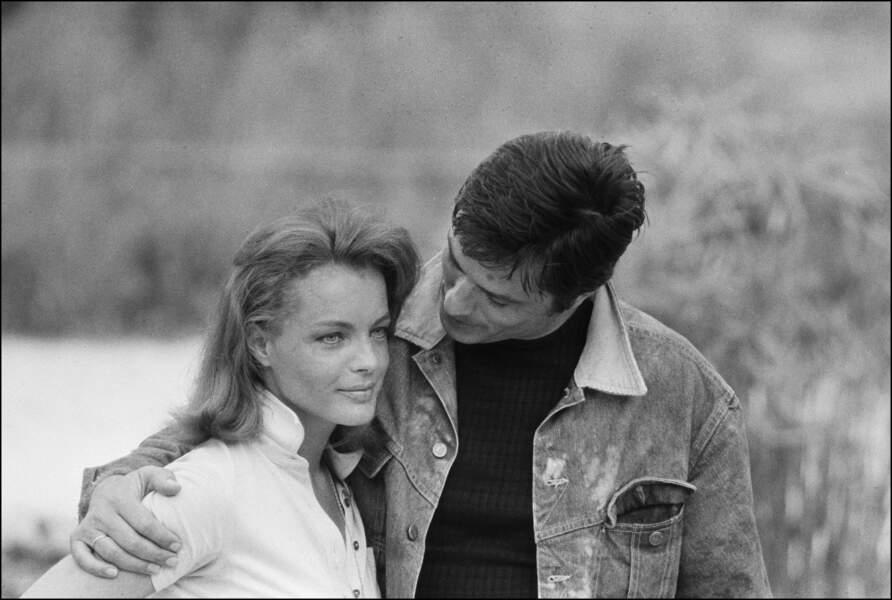Alain et Romy Schneider 1968